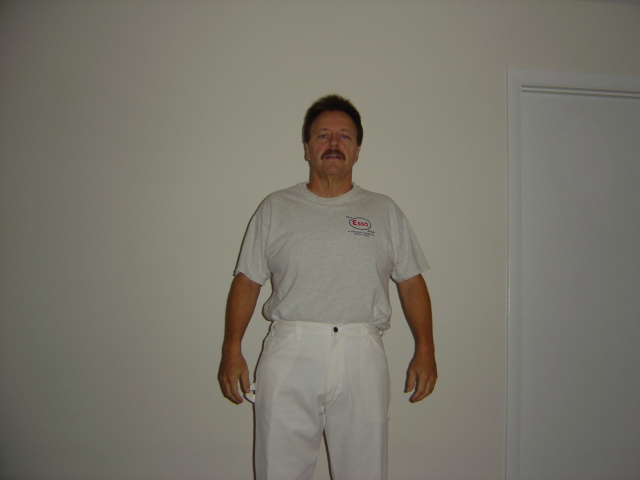 The FatMan Slides Into Size 36 Waist Painter Pants!